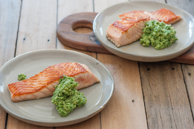 Salmon And Broccoli Athelio