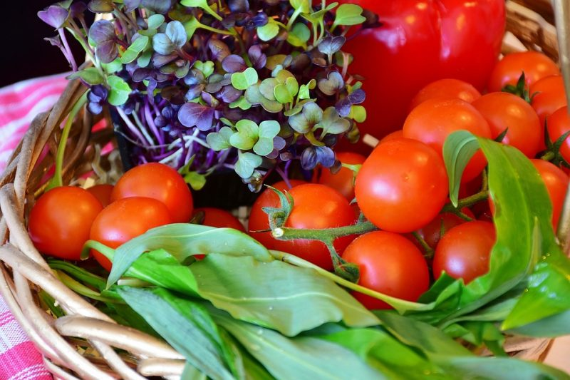 Beautiful Vegetables Basket Athelio Com