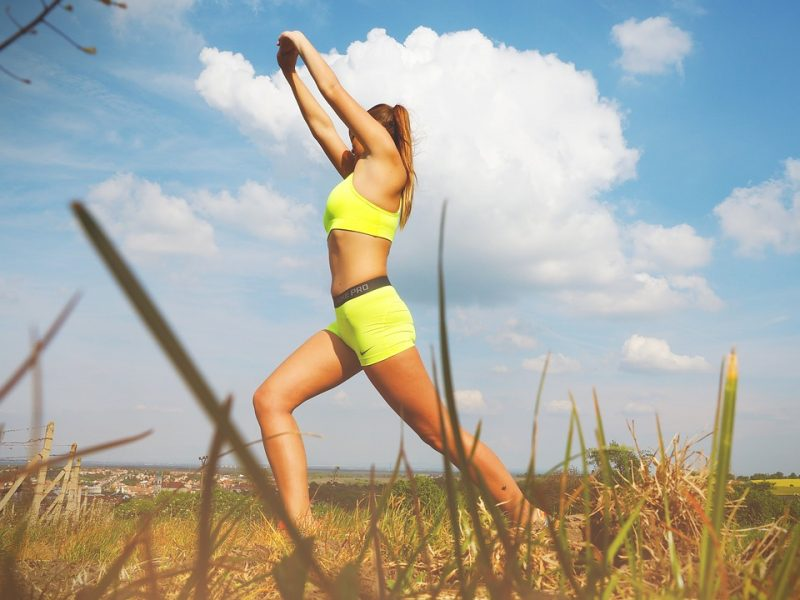 Woman Vital Fitness Yoga Healthy Fit Style Life