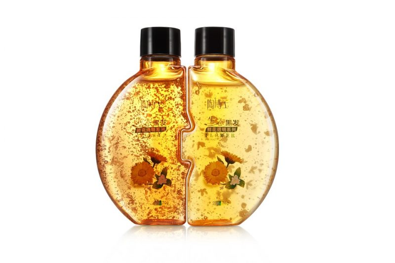 Liquid Tube Shampoo Gold Yellow Bottle Water