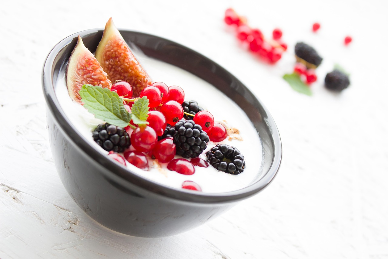 Yogurt with Freshly Sliced fruits athelio